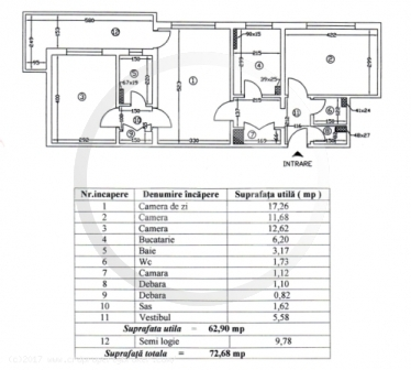 Apartament cu 3 camere de vanzare, Drumul Taberei