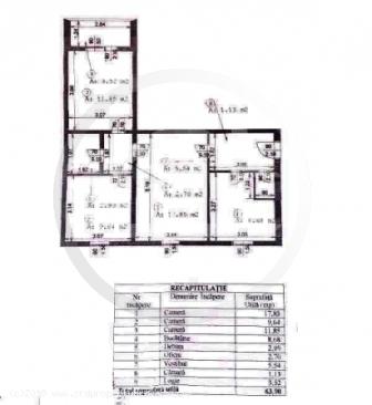 Apartament 3 camere, Valea Argesului