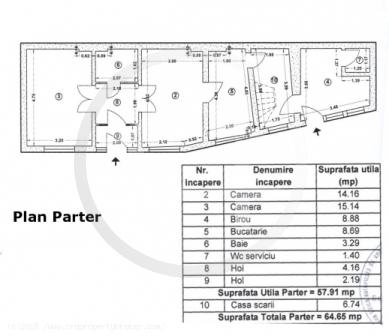 Plan Parter casa Piata Muncii